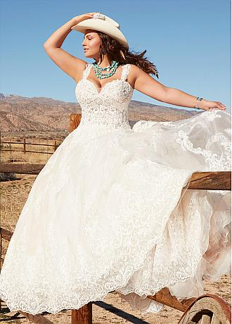 Modern Tulle Sweetheart Neckline A-line Plus Size Wedding Dresses With Lace Appliques & Beadings