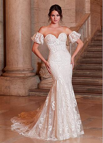 Eye-catching Tulle Sweetheart Neckline Mermaid Wedding Dresses With Beadings & Lace Appliques